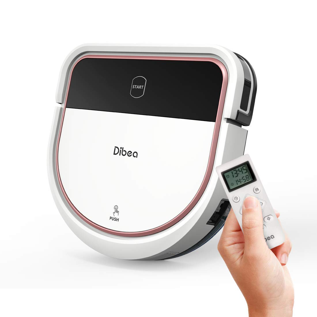 Dibea D500 Pro Saugroboter mit Wischfuntion, HEPA-Filter, Hartböden und Teppiche