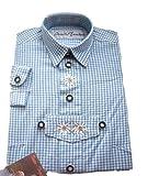 Isartrachten Baby Jungen Trachtenhemd kariert (80, hellblau)