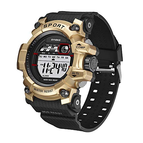 NEEKY Herren Armbanduhr,Sportuhren,Smartwatch,Für Unisex Fitness Uhren - Multi Funktions wasserdichte Uhr LED Digital Double Action Watch