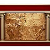 murando - Fototapete 400x280 cm - Vlies Tapete - Moderne Wanddeko - Design Tapete - Wandtapete - Wand Dekoration - Ägypten Pharao Antike Textur Mauer d-C-0021-a-d