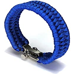 Parachute Cord Bracelet Buckle Whistle New by Elegiant