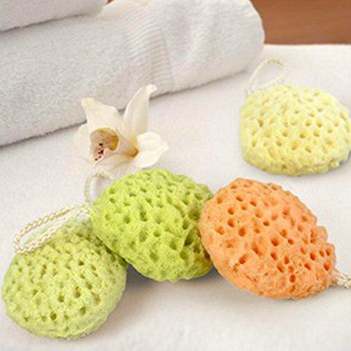 Hinmay - Esponja de baño para bebé, esponja de mar natural, suave y duradera,