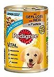 Pedigree Junior Hundefutter Geflügel und Reis, 400 g