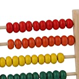 Nalmatoionme Wooden Bead Abacus Counting number Kid Preschool Math Learning giocattolo insegnamento abaco by Nalmatoionme