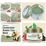 lm Carbonated Bubble Clay Facial Mask sbiancante ossigeno Mud Blackhead rimuovere acido dei pori pulizia