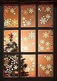 6 pezzi di adesivi di Natale con fiocchi di neve hanno una finestra a pois rotondi Immagine di splendidi fiocchi di neve - RIUTILIZZABILE / Decalcomanie per vetrine / Decorazioni per finestre / Vetrofanie