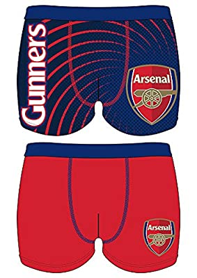 2 Pack - Mens Football Club Arsenal Novelty Official Boxer Short Trunks