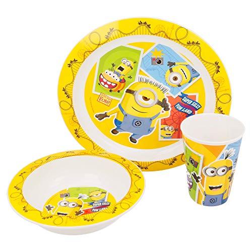 Stor Lot de 3 Micro Kids Minions, comptoir et Pot 260 ML