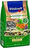 Vitakraft-Seulement Mangeoire pour Chinchillas, ausgewogene Mélange de graines avec Herbes de Pierres, sans céréales, Emotion Pure Nature Herbal