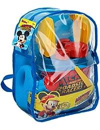 ColorBaby Mochila Set Playa Mickey - con Cubo, regadera, Pala, rastrillo y moldes