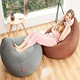 JKYQ High Back Loungers Beanbag Lycra Cotton Bean Tasche Chair Comfortable and Removable Sofa Indoor Outdoor Garden Cushion for Children Adults and Teens 35 * 60 * 90CM,Brown