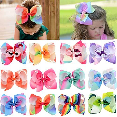 Haarschleifen für Mädchen, große Boutique-Schleife, Krokodilklemmen, Ripsband, Haaraccessoires für Kleinkinder, Kinder, ()