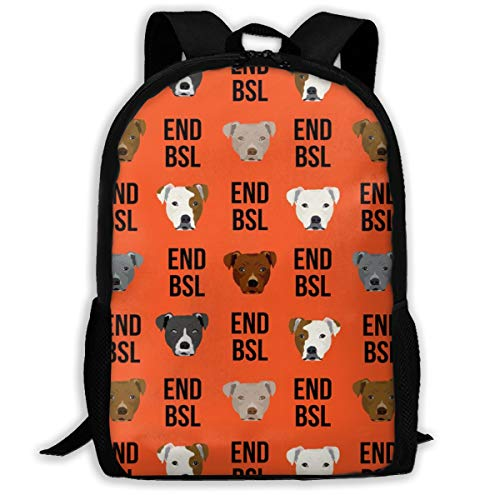 Pitbull BSL Fabric - Hund, Hunde, Hunderasse, Rettung Dog_891 Reise-Laptop-Rucksack, extra großer College School Student Rucksack für Männer und Frauen Backpack Klassischer Rucksack