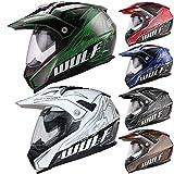Wulfsport Adult Prima X Dual Double Visor Adventure Motocross Motorbike Helmet - Blue