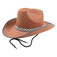 Cowboy Hat Rodeo Wild West Unisex Fancy Dress Accessory Brown 1973ffe4a326