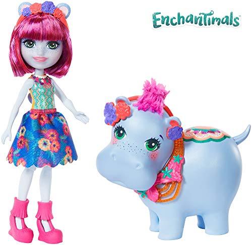 Enchantimals Vamos al lago, muñeca Hedda Hippo con mascota y accesorios (Mattel GFN56)