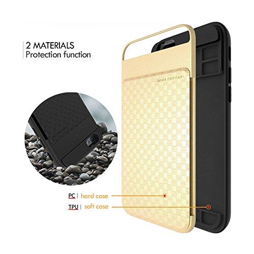 iPhone 7 Plus Case, Cellto [Série HERO] Carte de portefeuille semi-automatique Wallet Case [Dual Layer] Protéger Diary Cover pour Apple iPhone 7 Plus - Champagne Or Or