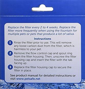 PetSafe - Filtre au Charbon de Rechange pour Fontaine à eau pour animaux Drinkwell 360 (Pack de 3)