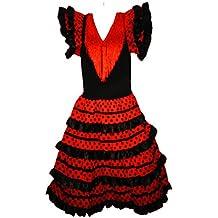 Multicolor Vestito Flamenco Sevillane per Ragazza f9e9c87e8f4e