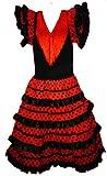 Vestido de flamenco, sevillanas, para niña rojo 2