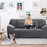 Sofa Bezug 3 Sitzer-Stoffüberwurf, Schonbezug, elastischer Überwurf für Sofa, Sessel, Couch zum Schutz, Farbe: Pure,Grau,Maße von 190 bis 231 cm