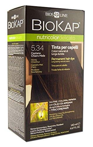 Bios line 53812 biokap nutricolor delicato 5.34, castano chiaro miele