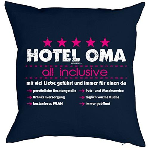 Weihnachtsgeschenk für Oma Kissenbezug Hotel Oma - all inclusive. Geschenk für die Oma Polster Sofakissen Couchkissen Weihnachten