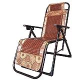 HOMEE Sedie pieghevole pausa pranzo mahjong sedili anziani balcone ufficio spiaggia estiva sedia rattan sedia lounge rinforzata sedie (colore opzionale),B