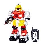Ferngesteuerter RC Kinder Roboter ROT KP6840 Schußfunktion Licht Geräusche Neu