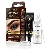 Henna für Augenbrauen ProClors Bio Formula Cremiges Henna mit Arganöl und Rizinusöl (3.0 Dark...