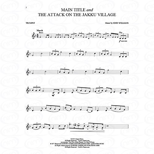 Star wars - Episode 7 (The force awakens) - arrangiert für Trompete [Noten/Sheetmusic] Komponist : WILLIAMS JOHN aus der Reihe: Violin play along