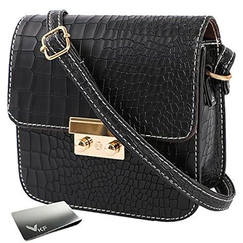 kilofly Women's Faux Leather Crossbody Purse Satchel Shouder Bag + Money Clip