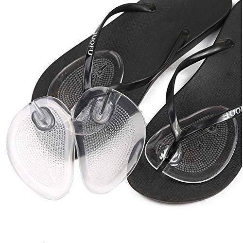 pbfone 1Paar Flip Flop Sandale selbstklebend Gel Einlage Schmerzhaften Vorfuß Anti-Rutsch Displayschutzfolie Grip Pad - Soft-flipflops