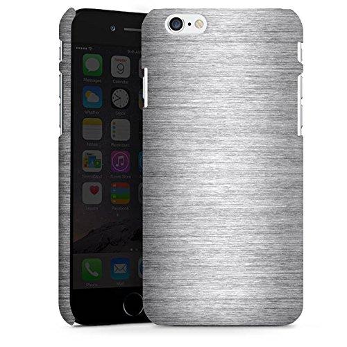 Apple iPhone X Silikon Hülle Case Schutzhülle Metal Look Silber Glitzer Metall Premium Case matt