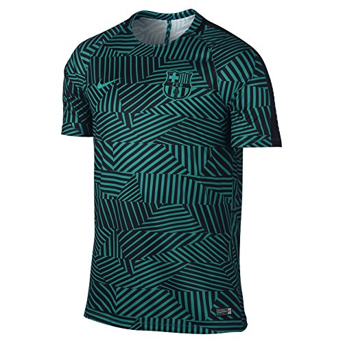 Nike M Nk Dry Top Ss Sqd Gx - T-shirt Linie F.C. Barcelona Herren, Farbe Blau, Größe M (Pre-match Barcelona)