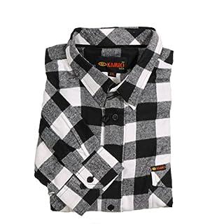 KAMRO Holzfäller-Langarmhemd Übergröße 10XL, weiß, Größe:8XL