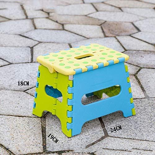 YLCJ Farbe Hocker, Camping Picknick Tragbare Kleine Hocker Türöffnung Ändern Schuh Bank Sofa Bad Hocker Kunststoff Klappstühle Höhe 18 cm (Farbe: Gelb) -