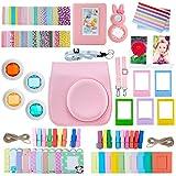 ZWOOS 13 in 1 Zubehör für Fujifilm Instax Mini 8 / Mini 9 Tasche Kamerapaket(Rosa)