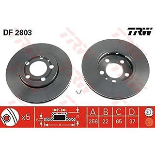 TRW DF2803 Bremsscheibe Scheibenbremsen, Bremsscheiben (x2)