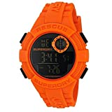 Superdry Herren Digital Quarz Uhr mit Silikon Armband SYG193O