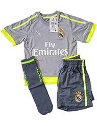 Real Madrid Temporada 15/16 - Segunda Equipación Infantil Réplica Oficial para niño, Talla 2