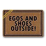 zengjiansm Paillassons Doormat Egos and Shoes Outside Rubber Non-Slip Doormat Entrance Rug Floor Mat Durable Home Indoor Mats 23.6' x 15.7'
