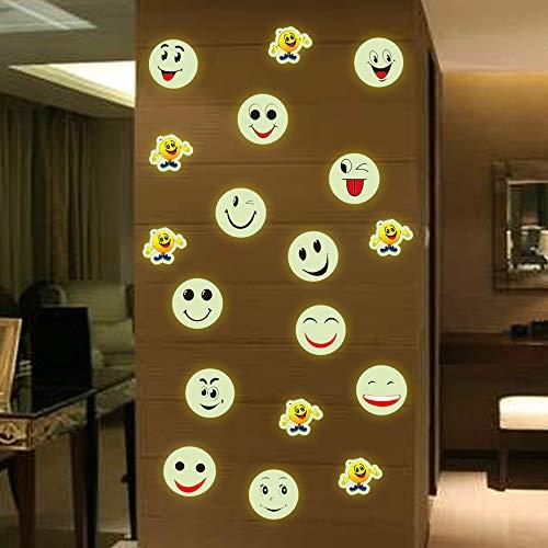 Wandaufkleber Glowing Smile Pvc Glas Dekoration Cartoon Smiley Leuchtende Fenster Aufkleber Kinderzimmer Kleiderschrank