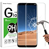 Galaxy S8 Screen Protector, Rusee Samsung Galaxy S8 Tempered Glass Screen Protector, Full Coverage, Ultra HD Clear, Anti-Scratch, Bubble Free, Anti-Fingerprint Curved Protective Film Cover for Samsung Galaxy S8