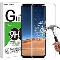 Protector de Pantalla para Galaxy S8, Rusee 9H Protector de Pantalla de 3D S8 Cristal Vidrio Templado sin Burbujas, Ultra-claro, Anti-Scratch para Samsung Galaxy S8