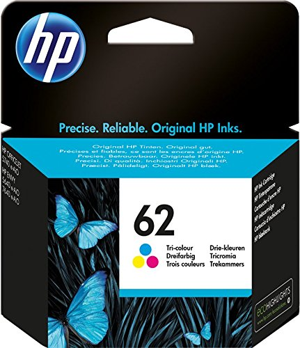 Hp 62 c2p06ae cartuccia originale per stampanti hp a getto d'inchiostro compatibile con stampanti hp envy all in one 5540, 5642, 5644, 5742, 7640, l'officejet 5740 e l'officejet serie 200, tricomia