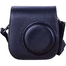 [ Accesorios para Fujifilm Instax Mini 8 ]- ZWOOS Cuero de la PU Cámara Bolsa de Fujifilm Instax Mini 8 / Mini 8S Con Correa Para El Hombro y Bolsillo (Negro)