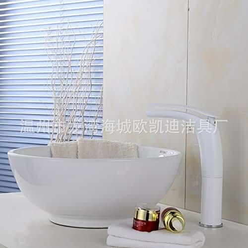 figuras kawaii porcelana fria GQLB Creativo de porcelana sanitaria de fontanería grifo caliente y frío Grifo lavabo de cobre