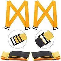 und Umzugsgurte f/ür 2 Personen Hub M/öbelg/ürtel Moving Seil Tragegurt und Bewegungssystem Hebe orange