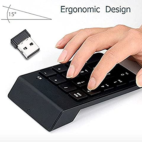 Numeric Keypad, FeBite 18 Keys Wireless USB Number Key Pads Keyboard With 2.4G Mini USB Numeric Receiver for Laptop Desktop PC Notebook